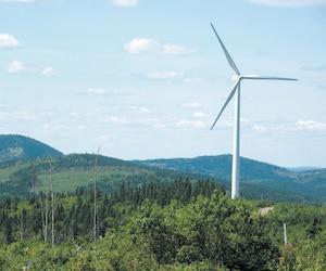 Le gouvernement du Québec a beaucoup misé sur l'éolien au cours des dernières années, comme dans le cas du parc éolien de Carleton-sur-Mer, sur cette photo.