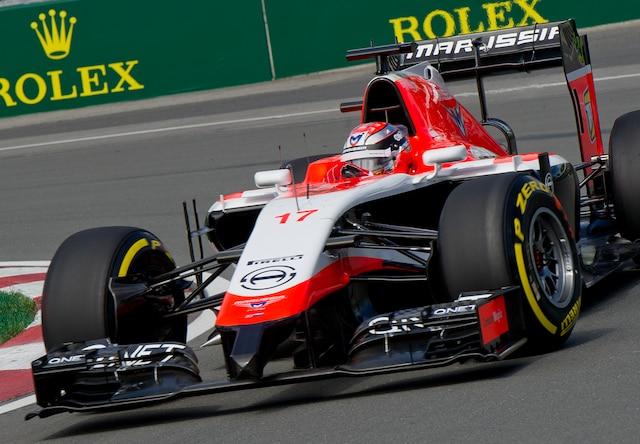 Jules Bianchi, MARUSSIA F1 TEAM, lors de la première séance d'essais libres lors du Grand Prix de Montréal sur le circuit Gilles Villeneuve, le vendredi 6 juin 2014.