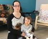 Érika Émond, mère du jeune Naoh, trois ans et demi, était complètement «sidérée» après qu'un homme eut tenté d'enlever son fils sous ses yeux, au café situé à l'entrée sud de Laurier Québec.