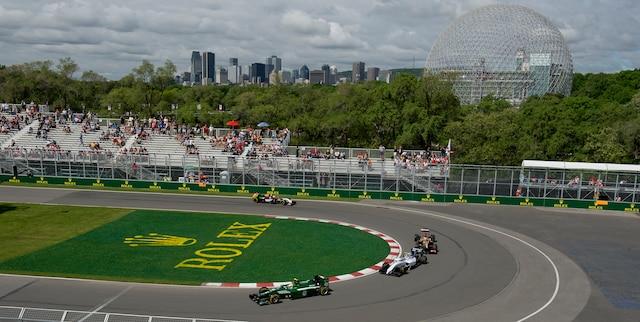 Première séance d'essais libres lors du Grand Prix de Montréal sur le circuit Gilles Villeneuve, le vendredi 6 juin 2014.