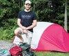 Samuel Durocher, cofondateur de bpackr, expose ses différents produits à sa résidence, à Blainville.