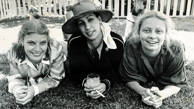 Avec Danielle Proulx et France Labrie, en mai1980