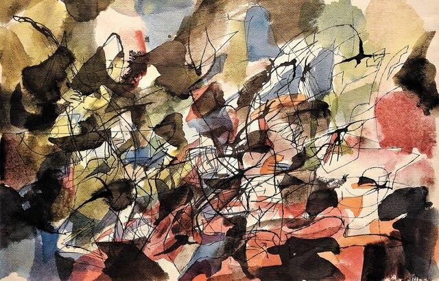 Une toile de Jean-Paul Riopelle.