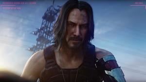 Le personnage de Johnny Silverhand, interprété par Keanu Reeves, dans Cyberpunk 2077.