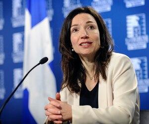 La chef du Bloc québécois Martine Ouellet.