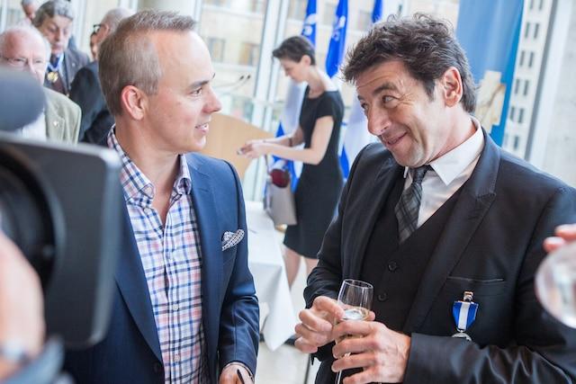 Gino Chouinard et Patrick Bruel