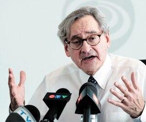 Le PDG de la Caisse de dépôt et placement du Québec, Michael Sabia, a présenté, hier, à Montréal, les résultats annuels de l'institution.