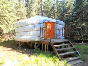La yourte mongole où nous avons logé.