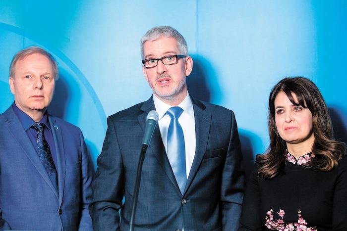 Jean-François Lisée, Jean-Martin Aussant et Véronique Hivon