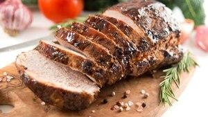 Image principale de l'article Filet mignon de porc rôti et pois chiches sautés