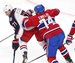 NHL: Columbus Blue Jackets at Montreal Canadiens