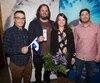 Les Cowboys Fringants, récipiendaires du Prix Artisan de la Fête nationale.