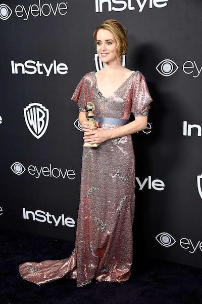 L'actrice Claire Foy a été récompensée pour son portrait d'Elizabeth II dans The Crown.