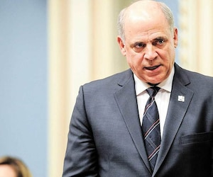 Le ministre de l'Économie et de l'Innovation Pierre Fitzgibbon, ici à l'Assemblée nationale en février dernier, a dit qu'il comptait modifier en profondeur le mandat et le fonctionnement d'Investissement Québec. En mortaise : Guy LeBlanc, futur PDG d'IQ.