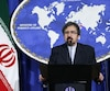 Le porte-parole du ministère des Affaires étrangères, Bahram Ghasemi.