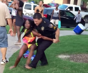 Un policier suspendu après des arrestations brutales lors d'une fête de piscine