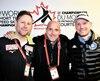 De gauche à droite, Jonathan Guilmette (Japon), Guy Thibault (États-Unis) et Kenan Gouadec (Italie).