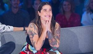 Image principale de l'article Mariana Mazza dévoile son tatouage d'Éric Lapointe
