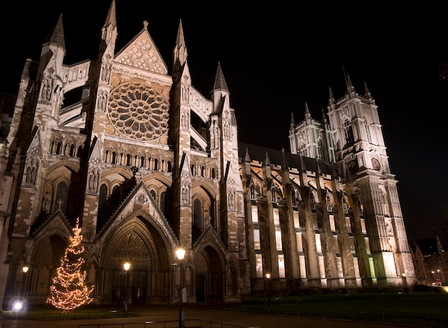 Le Palais de Westminster.  Durant le congé des Fêtes,  il est possible d'en faire la visite  en l'absence des parlementaires.