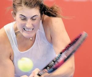Rebecca Marino a trimé dur, mais elle n'affichait pas l'énergie de ses derniers matchs.