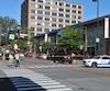 Une piétonne a été grièvement blessée le dimanche 25 septembre 2016 lorsqu'elle a été happée par un véhicule en traversant une rue dans l'arrondissement du Plateau-Mont-Royal, à Montréal. PHOTO MATHIEU WAGNER / AGENCE QMI