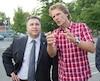Pierre Lavoie et le ministre Proulx