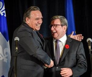 Le premier ministre du Québec, François Legault, et le maire de Québec, Régis Labeaume