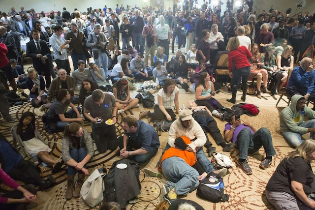 Réaction des supporters démocrates à Philadelphie en Pennsylvanie.  Jessica Kourkounis/Getty Images/AFP