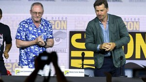 Les acteurs Liam Cunningham et Nikolaj Coster-Waldau.