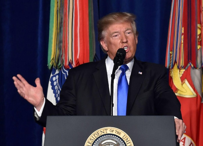 US President Donald Trump gives a Presidential Address to the Nation