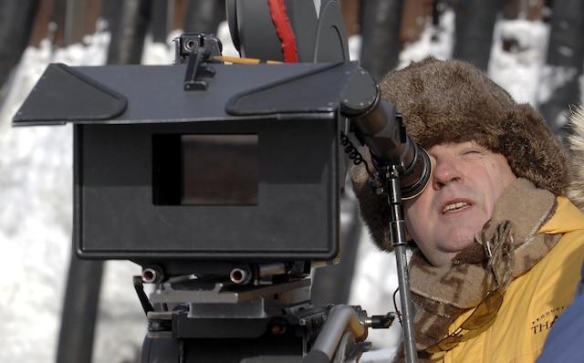 Jean-Claude Labrecque en tournage.