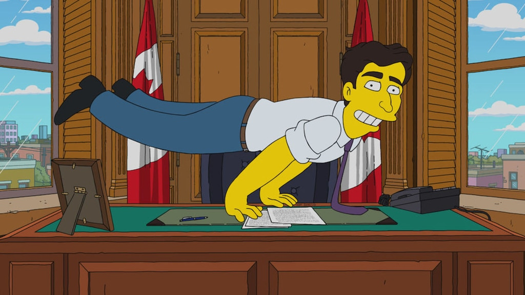 Justin Trudeau dans un épisode des «Simpson»