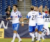 Le 8 septembre 2013, lors d'un match entre le Revolution de la Nouvelle-Angleterre et l'impact de Montréal, Marco Di Vaio recevait les félicitations de ses coéquipiers Felipe, Justin Mapp et Davy Arnaud après avoir marqué lors de la première demie du match au Gillette Stadium.
