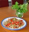 Salade de lentilles et tomates à la menthe