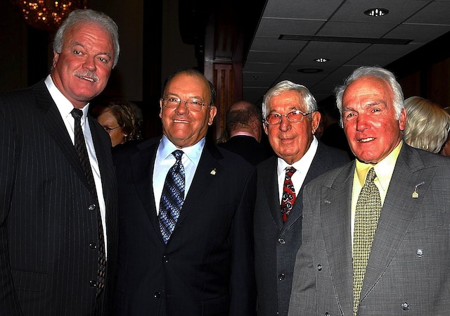 Yvon Lambert, Scotty Bowman, Elmer Lach et Henri Richard