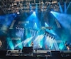 FEQ show de fermeture du festival avec le groupe rock allemand Rammstein sur les plaine d'abraham