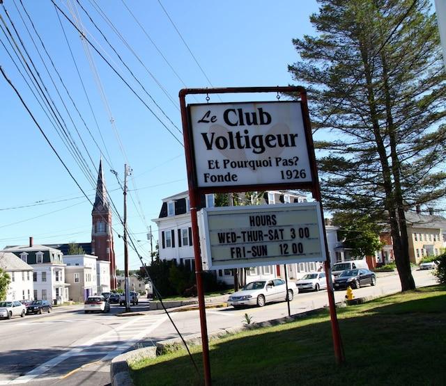 Le Club Voltigeur est un des derniersclubs sociaux pour Franco-Américains à Biddeford