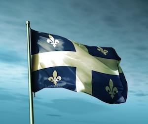 Drapeau Quebec flag fleurdelysé