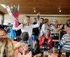 Laurie Blouin a été honoré hier pour ses dernières performances lors d'une fête à Stohenam.