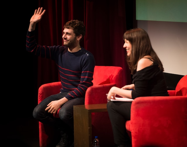 La leçon de cinéma de Xavier Dolan, questionné par Marie-Louise Arsenault dans le cadre des Rendez-vous du cinéma québécois (RVCQ), à la Maison Théâtre, à Montréal, Québec, Canada, le jeudi 26 février 2015.