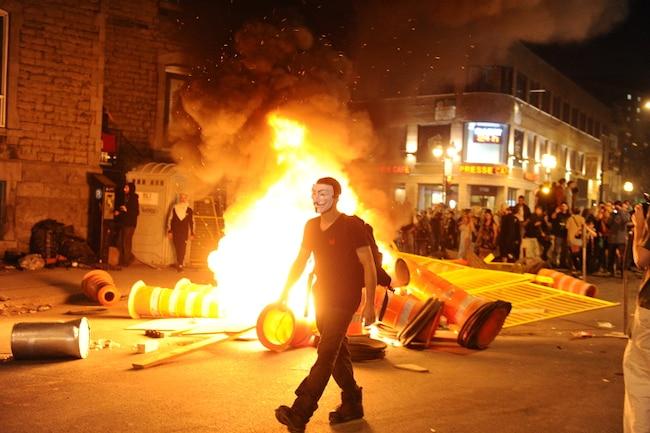 Manifestation feu