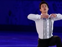 Patrick Chan performs during the Figure Skating Gala Exhibition at the 2014 Sochi Winter Olympics