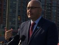 Ontario Transportation Minister Steven Del Duca speaks in Markham on September 15, 2014. Antonella Artuso/ts/Toronto Sun/QMI Agency