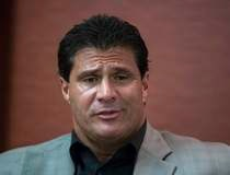 Former Major League Baseball player Jose Canseco speaks during a round table discussion regarding the prevalence of performance-enhancing drugs in sports, in New York