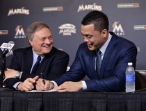 MLB: Giancarlo Stanton Press Conference