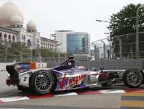 Virgin Racing driver Bird of Britain drives during the Formula E Championship race in Putrajaya