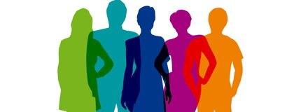 Rainbow Teamwork Background # Vector