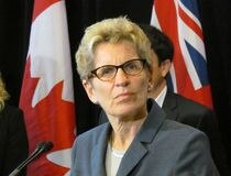 Premier Kathleen Wynne announces on Monday October 20 2014 that Ontario will be donating $3 million to help frontline organizations responding to ebola in West Africa. Antonella Artuso/ts/Toronto Sun/