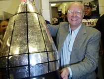 ALOUETTES OWNER ROBERT WETENHALL HOLDS GREY CUP