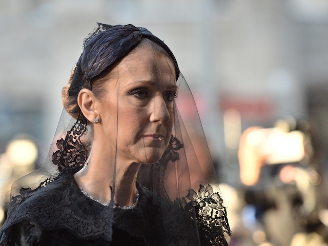 Céline Dion à son arrivée aux funérailles de René Angelil, célébrées ce vendredi après-midi 22 janvier 2016, à la Basilique Notre-Dame, à Montréal. JOËL LEMAY/AGENCE QMI